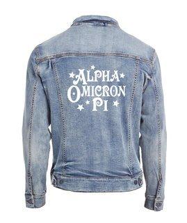 Alpha Omicron Pi Star Struck Denim Jacket
