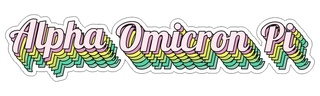 Alpha Omicron Pi Step Decal Sticker