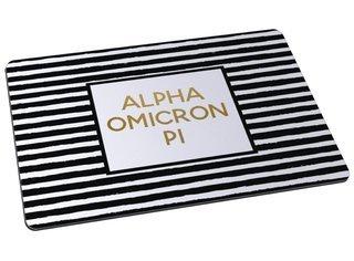 Alpha Omicron Pi Striped Mousepad