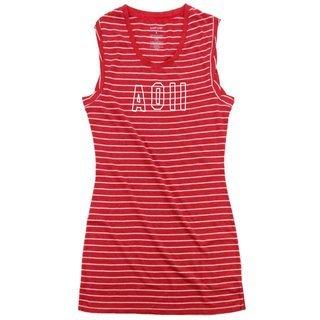 Alpha Omicron Pi Striped Tee Dress