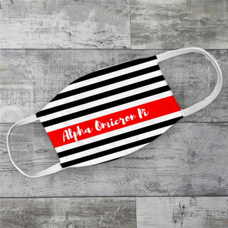 Alpha Omicron Pi Stripes Face Mask