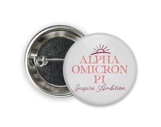 Alpha Omicron Pi Sun Button