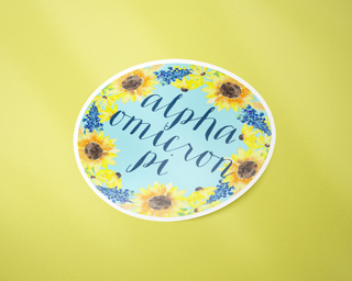 Alpha Omicron Pi Sunflower Sticker Sticker