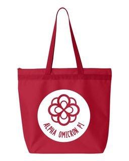 Alpha Omicron Pi Symbol Circle Mascot Tote Bag