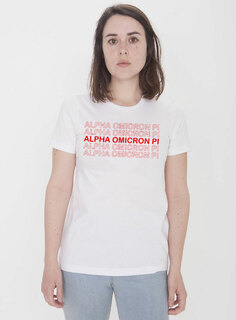 Alpha Omicron Pi Thank You For Shopping Tee - Comfort Colors