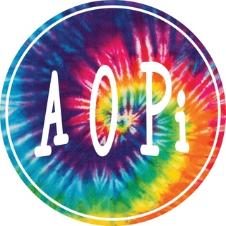 Alpha Omicron Pi Tie-Dye Circle Sticker