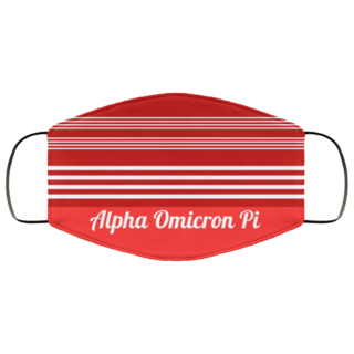 Alpha Omicron Pi Two Tone Stripes Face Mask