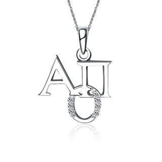 Alpha Omicron Pi Unique Silver Lavalier