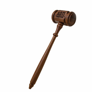Alpha Omicron Pi Walnut Gavel