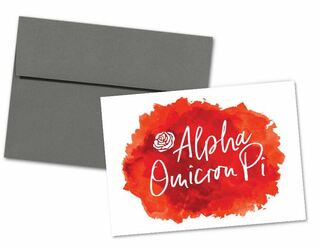 Alpha Omicron Pi Watercolor Script Notecards(6)
