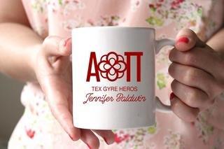 Alpha Omicron Pi White Mascot Coffee Mug