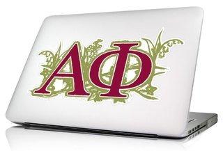 Alpha Phi 10 x 8 Laptop Skin/Wall Decal
