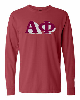 Alpha Phi 3 D Greek Long Sleeve T-Shirt - Comfort Colors