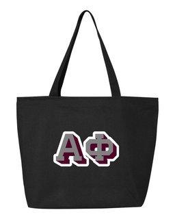 Alpha Phi 3D Letter Tote Bag