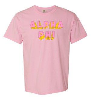 Alpha Phi 3Delightful Tee - Comfort Colors