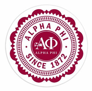 "Alpha Phi 5"" Sorority Seal Bumper Sticker"