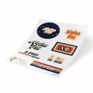 Alpha Phi 70's Sticker Sheet