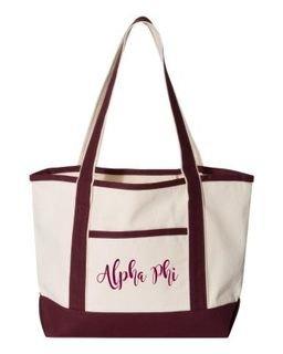 Alpha Phi Sailing Tote Bag