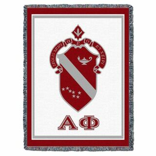 Alpha Phi Afghan Afghan Blanket Throw