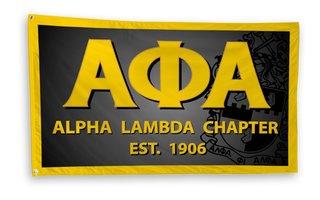 Alpha Phi Alpha 3 x 5 Flag