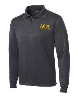 Alpha Phi Alpha- $30 World Famous Long Sleeve Dry Fit Polo
