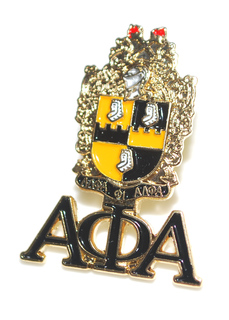 Alpha Phi Alpha 3D Color Shield w Letters Pins