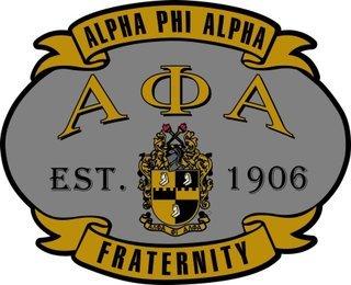 Alpha Phi Alpha Banner Crest - Shield Decal