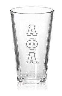 Alpha Phi Alpha Big Letter Mixing Glass
