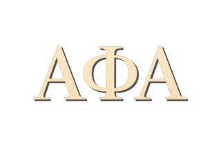 Alpha Phi Alpha Big Wooden Greek Letters