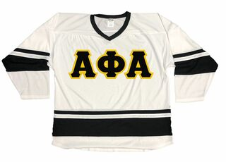DISCOUNT-Alpha Phi Alpha Breakaway Lettered Hockey Jersey