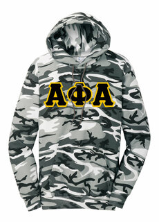 DISCOUNT-Alpha Phi Alpha Camo Pullover Hooded Sweatshirt