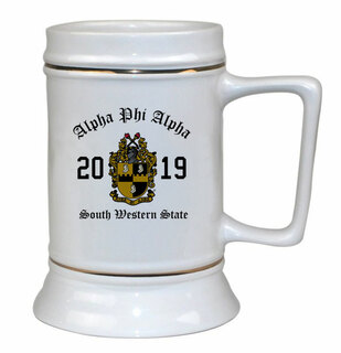 Alpha Phi Alpha Ceramic Crest & Year Ceramic Stein Tankard - 28 ozs!