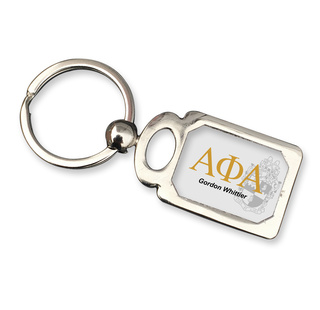 Alpha Phi Alpha Chrome Crest Key Chain