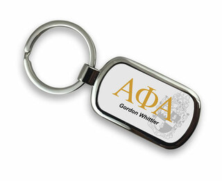 Alpha Phi Alpha Chrome Crest - Shield Key Chain