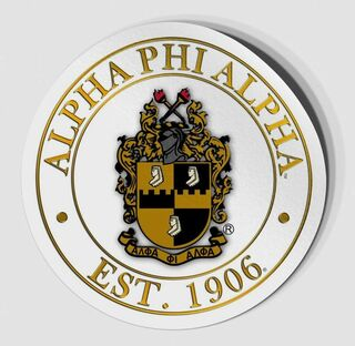 Alpha Phi Alpha Circle Crest - Shield Decal