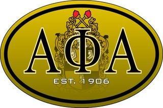 Alpha Phi Alpha Color Oval Decal