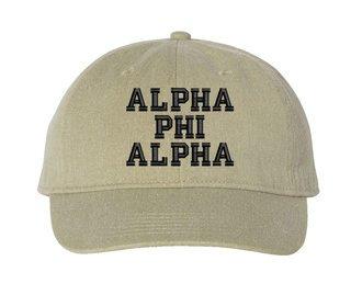 Alpha Phi Alpha Comfort Colors Pigment Dyed Baseball Cap