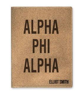 Alpha Phi Alpha Cork Portfolio with Notepad