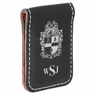 Alpha Phi Alpha Crest Leatherette Money Clip