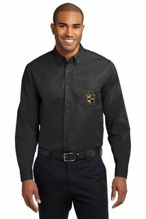 DISCOUNT-Alpha Phi Alpha Crest - Shield Long Sleeve Oxford