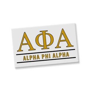 Alpha Phi Alpha Custom Ceramic Magnet