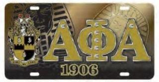 Alpha Phi Alpha D9 Crest License Plates