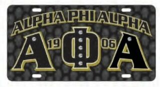 Alpha Phi Alpha D9 Founders License Plates