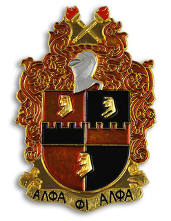 Alpha Phi Alpha Die Cut Car Badges
