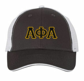 Alpha Phi Alpha Double Greek Trucker Cap
