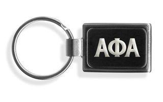 Alpha Phi Alpha Engraved Chrome Keychains
