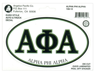Alpha Phi Alpha Euro Decal Oval Sticker
