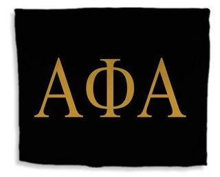Alpha Phi Alpha Flag Giant Velveteen Blanket