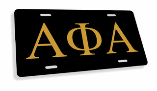 Alpha Phi Alpha Flag License Cover