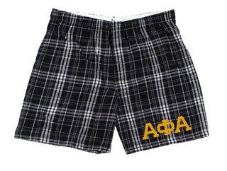 Alpha Phi Alpha Flannel Boxer Shorts